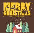 Merry christmas and Happy new year with winter vector image vector image