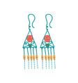 metal earrings boho style jewelry accessories vector image
