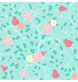 mint seamless pattern with pink roses vector image