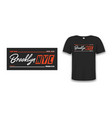 nyc brooklyn athletic design for t-shirt with tee vector image vector image