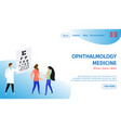 ophthalmology medicine horizontal banner oculist vector image