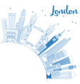outline london england skyline with blue vector image vector image