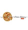 pizza doodle sketch banner background vector image