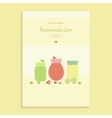 Poster with fruit jam vector image