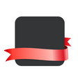 red ribbon and blank black banner - design vector image