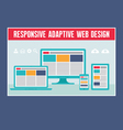 Responsive Adaptive Web Design vector image vector image