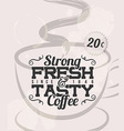 Retro Vintage Coffee Tin Sign with Grunge Effect vector image vector image