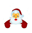 santa claus holding blank sign vector image