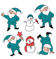 santas helpers for design vector image vector image