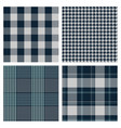 seamless blue checked patterns vector image