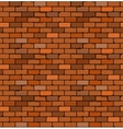 seamless pattern red brick with cracks and vector image