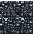 Seamless pattern with doodle sketch shopping icons vector image