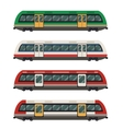 set railbuses vector image