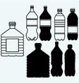 set water bottles vector image vector image