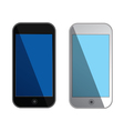 smartphones with blue screens - isolated vector image
