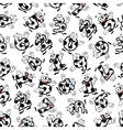 Soccer or football numbers pattern vector image vector image