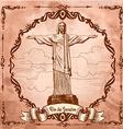 statue of Jesus Christ in Rio de Janeiro vector image vector image