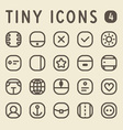 Tiny Line Icons for web and mobile applications vector image