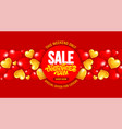 valentines day sale advertising banner template vector image