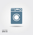 washing machine icon home appliances symbol flat vector image vector image
