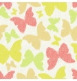 Seamless pattern with textile butterflies Knitted vector image