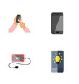 flat icon touchscreen set of telephone vector image