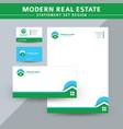 modern real estate stationery set design vector image