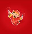 Chinese boy celebrating Chinese New Year vector image