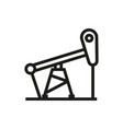 oil pump icon on white background vector image
