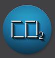 Single carbonic acid icon vector image