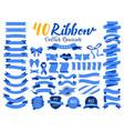40 blue ribbon vector image