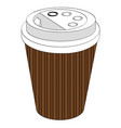 a glass of coffee or tea take-away with you vector image