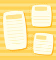 a yellow note template vector image vector image