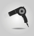 Abstract blow dryer icon with dropped shadow