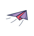 airplane paper fly to origami play vector image