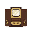 ancient television receiver on vector image vector image