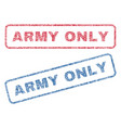 army only textile stamps vector image vector image