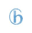 b letter line logo fingerprint design vector image vector image