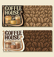 banners for coffee house vector image vector image
