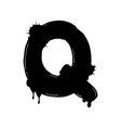 blot letter q black and white vector image vector image
