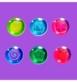 Bright Colorful Glossy Candies with Sparkles vector image vector image