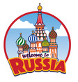 Cartoon saint basil cathedral russia landmark
