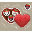 chocolate-dipped strawberries vector image