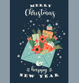 christmas and happy new year vector image vector image