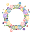 Circle frame with flowers for your text vector image