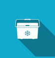 cooler bag icon portable freezer bag vector image