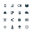 corporate icons set vector image vector image