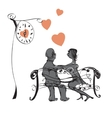Couple On a Bench vector image