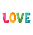 decorative stylized word love vector image