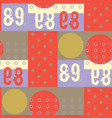 dots and digits seamless pattern vector image